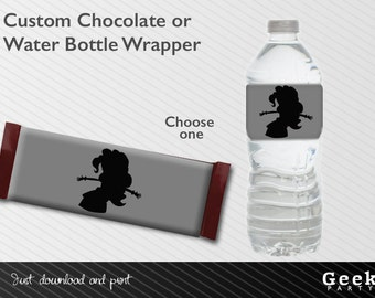 Custom Chocolate Wrapper or Water Bottle Label - Printable