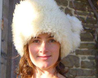 Pom Pom Sheepskin Hat