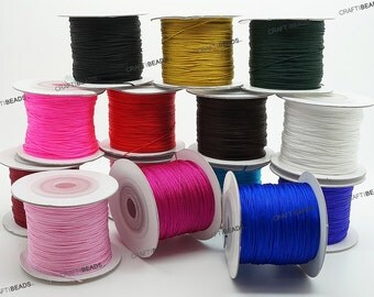 0.4mm Chinese Knot Nylon Braided Cord Beading Thread Kumihimo Micro Macrame - Pick Your Color!