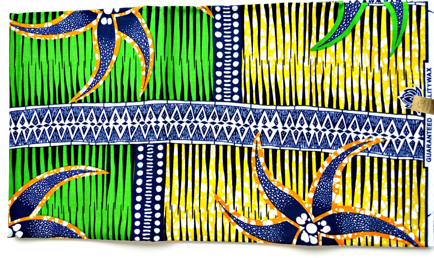 Green and yellow fabric for sale by the yard african for Cloth for sale by the yard