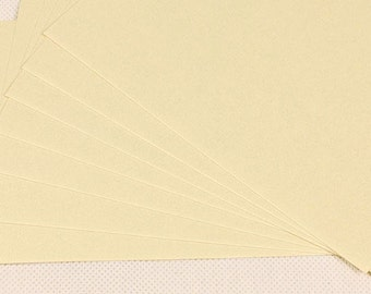 CREAM Plain kraft writing cards in set of 10