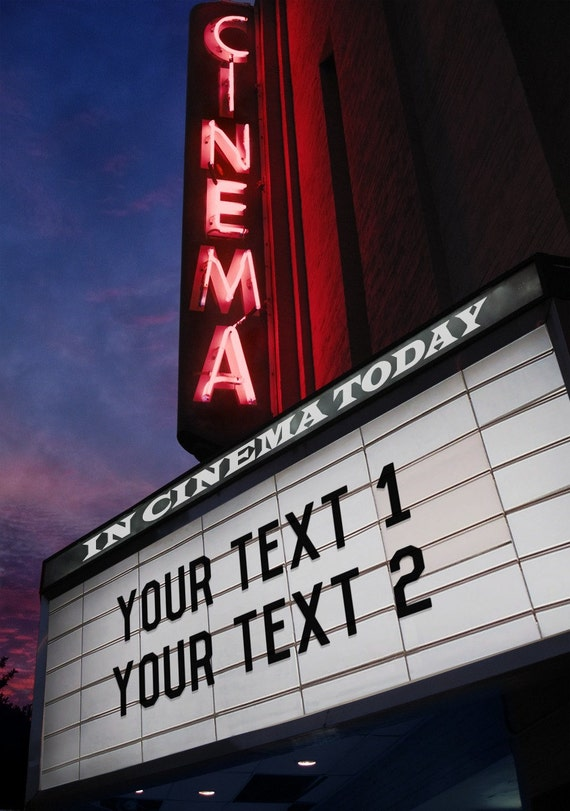 Digital Download, Printable File of Your Custom Text, on Image of Movie Lights,or Beach,or Snow,or Window,or Etched in Tree, One  choice.