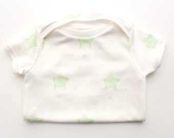 Organic Gender Neutral Onesie- Green Star
