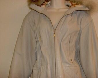 STUNNING Vintage LUXE Fur & Leather Parka