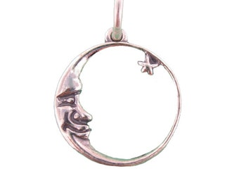 Sterling Silver Moon Charm - Lowest Price 2.09 Each