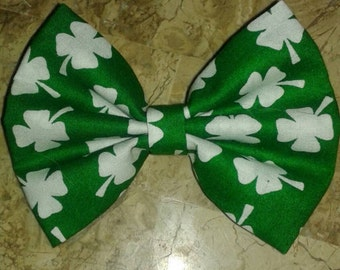 St. Patrick's day green shamrock bow