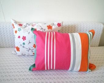 Colorful Stripes Decorative Throw Pillow Cover - Baby Nursery Kids Bedroom Decor - Lumbar Decorative Pillows - Home decor