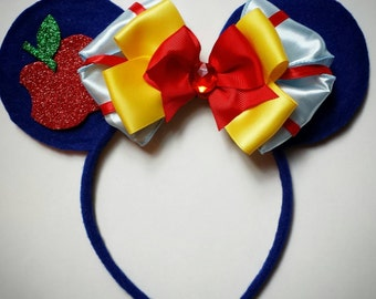Snow White Apple inspired Minnie Mouse Ears Headband
