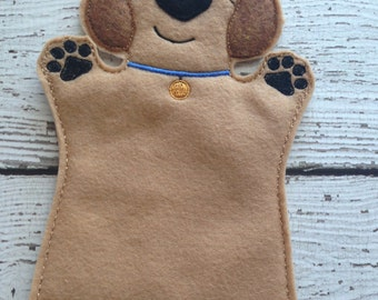 Dog hand puppet , Child size
