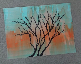 """Abstract Art Print  of Original Acrylic Painting Size 9""""X12"""""""
