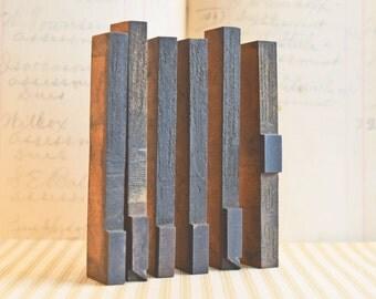 Punctuation Typeset, Vintage Graphics, hastypearl, Brown Letters,Vintage Letterpress, Wood Letterpress, Four Inch Typeset, Comma Letterpress