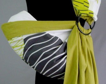 Baby Sling Ring/Baby Carrier/Reversible Baby ring Sling/Baby wrap ,Green,White, Gray/ Baby Gift