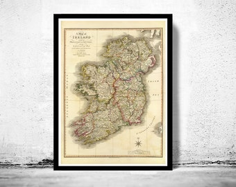 Old Map of Ireland 1798