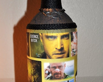 BREAKING BAD FANs - for your collection of items, this lamp - lighted bottle will make any fan smile! Walter White Jesse Pinkman
