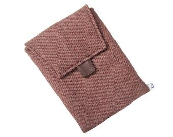 IPAD cover rust brown wool