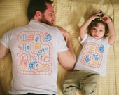 Father Son Matching Shirts, Train Track Shirts, Father's Day Gift from Kids, Father Son Shirts, Train Shirt, Dad Gifts, Toddler Boy Clothes