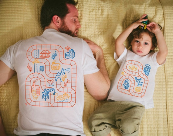 Father Son Matching Shirts Train Track Shirts Easter Gift