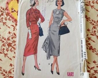 1957 McCalls 4419 bust 32 wiggle dress with bolero