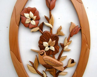 Intarsia Woodworking PATTERN - FLOWERS