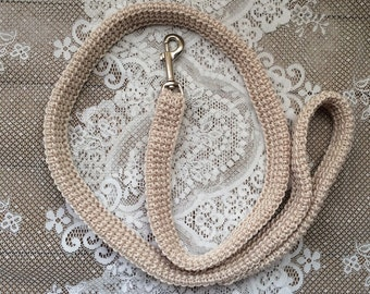 Ivory Wedding Dog Leash,  Ring Bearer Leash, Large Breed Dog Leash, Medium Breed Dog Leash, Four Foot Leash, WDL03