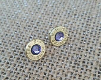 Light purple bullet post earrings. Nickel free. Bullet Jewelry