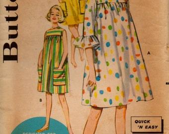 """Vintage Butterick Pattern 2289; """"Smock"""" dress from 1960"""