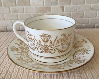 Coalport Bone China Made in England - Allegro Pattern Imperial Style Tea Coffee Cup & Saucer
