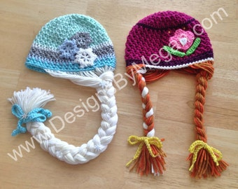 Princess & Ice Queen Crochet Hat Patterns