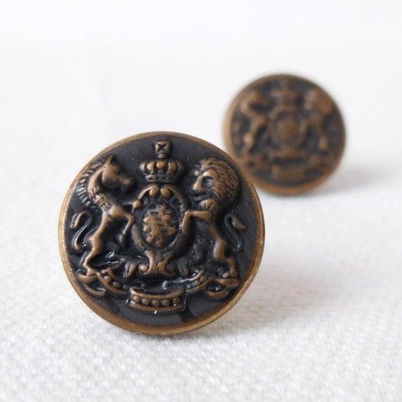 Bronze Crest Buttons