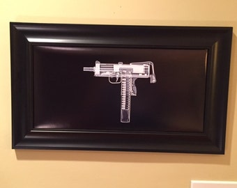 MAC 10 submachine gun print