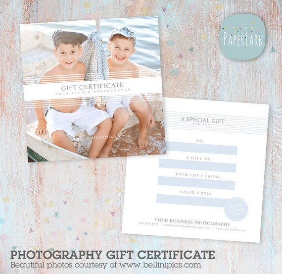 photography gift certificate template by paperlarkdesigns on etsy. Black Bedroom Furniture Sets. Home Design Ideas