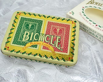 Bicycle Holiday Playing Cards in Decorative Christmas Tin - 2 Poker Decks