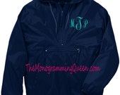 Monogram Windbreaker Black or Navy