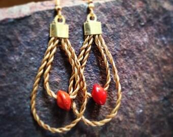 Pau-Brasil Seeds Golden Grass Earrings