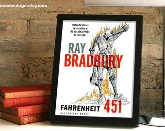 Ray Bradbury Framed Print, Farhenheit 451 Framed Art, First Edition Art Print, Ray Bradbury Poster, Wall Decor Home Decor, Bradbury Quote