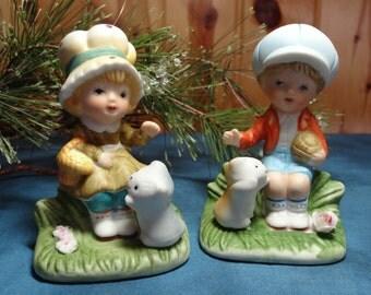 Homco Girl and Boy Figurines / Vintage Figurines / Homco Figurines