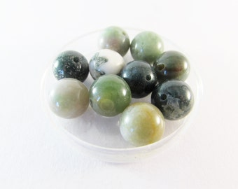D-01633 - 10 Indian Agate beads 10mm
