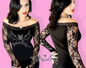 SaLe! Diy Gothic Graphic Vamp Lace OS Graphic Tee~Choose size