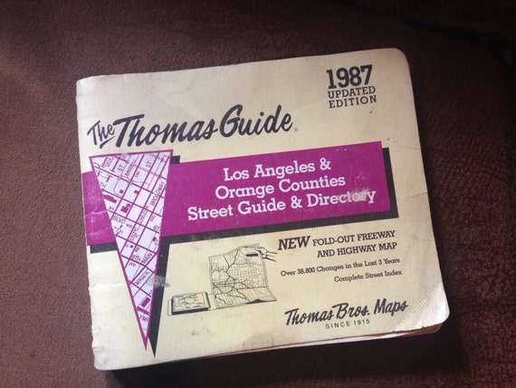 Items Similar To Thomas Guide Los Angeles Orange County - Us paper map thomas guide