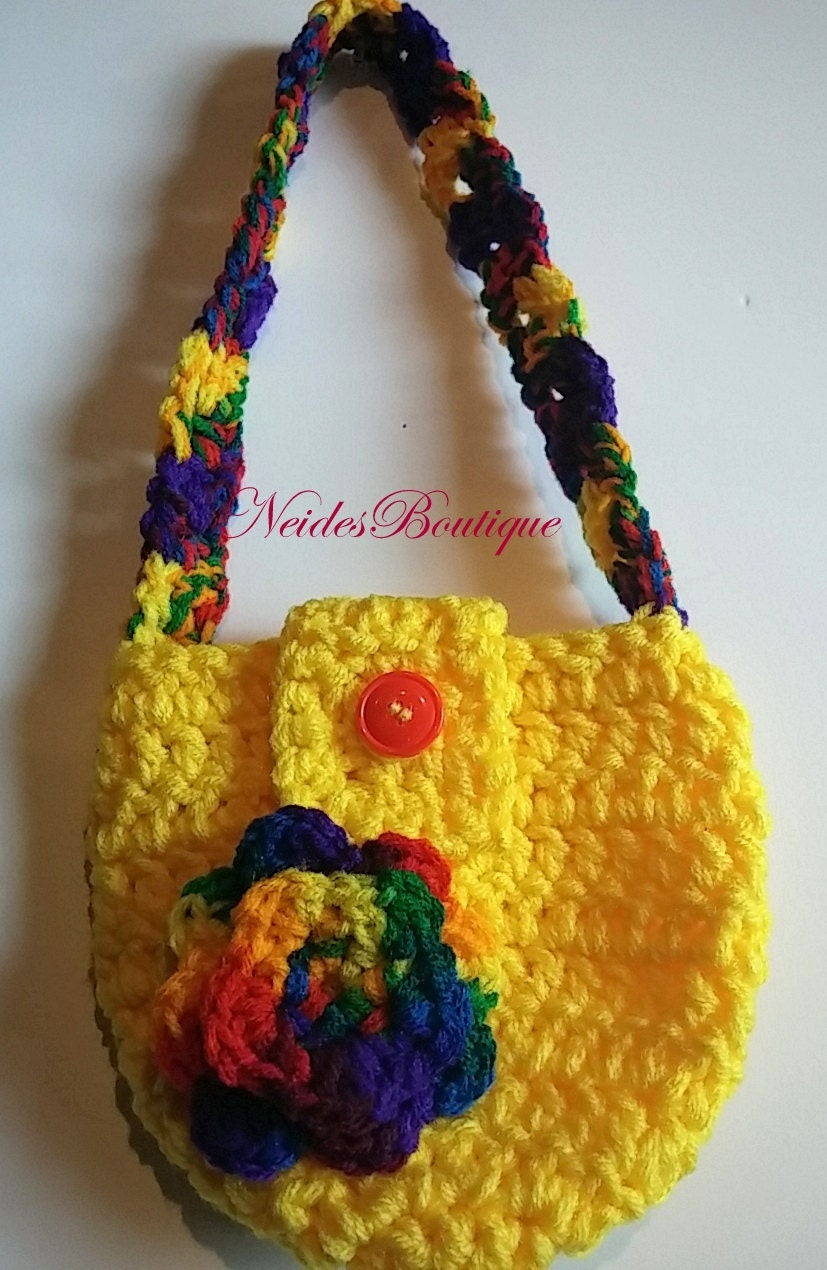 Toddler Crochet Purse Pattern : Little girls purse Crochet Girls Purse Toddler Purse