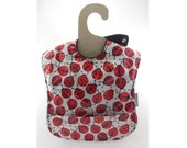 Little Ladybugs Resting on this waterproof baby bib (Ready to ship)