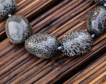 Bryozoan Coral 13.5-20.5mm pebble beads (ETB00881)