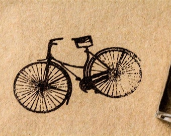 Bike Stamp - 2 x 2 Inches - Big Bike Stamp - Vintage Bicycle Stamps - Bike Rubber Stamp