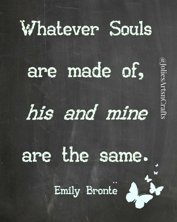 items similar to emily bronte love quote print