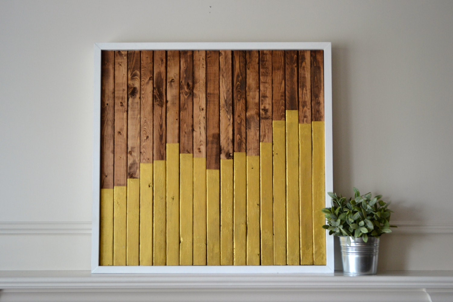 Sale reclaimed wood art ascend wood pieces with walnut stain Reclaimed wood wall art for sale