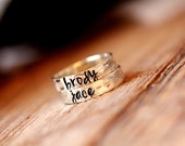 Personalized Stackable Mommy rings sterling silver
