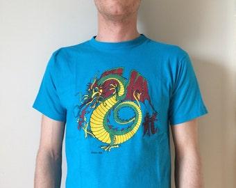 SALE ITEM: Vintage 1986 Dragon Graphic T-Shirt