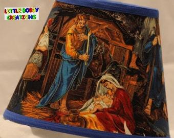 Christmas Jesus Nativity Scene Lamp Shade (10 Sizes to Choose From)