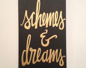 Custom Gold Schemes & Dreams Moleskine Notebook Planner