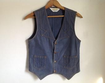 "Vintage ""Mann"" Denim Vest - small"